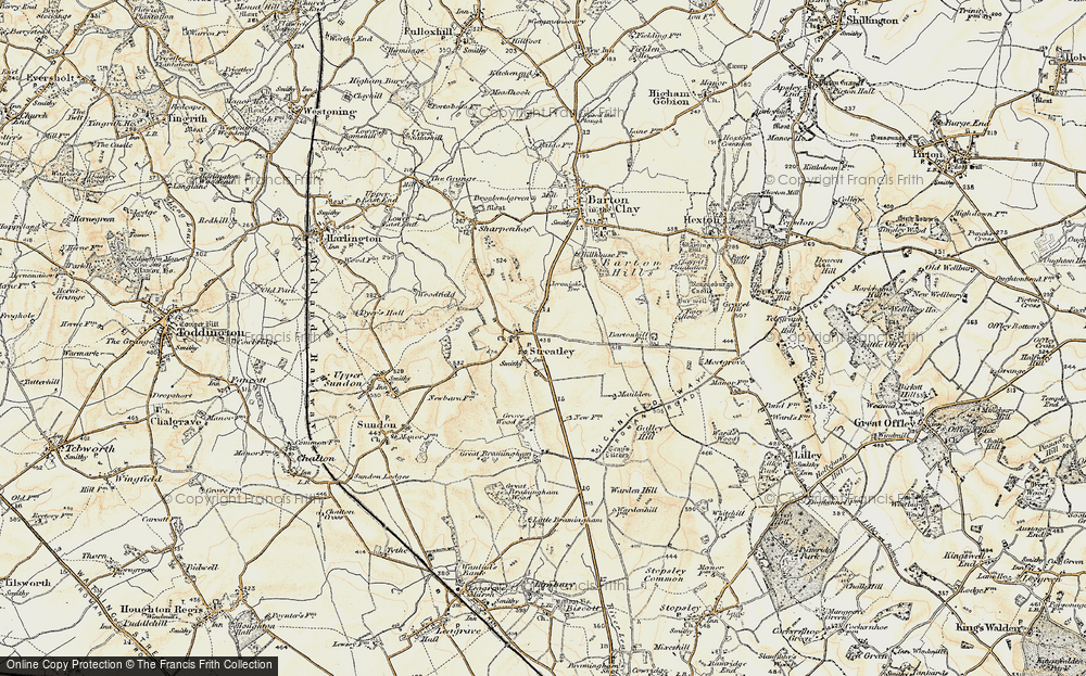 Old Map of Streatley, 1898-1899 in 1898-1899