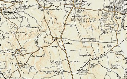 Old map of Streatley in 1898-1899