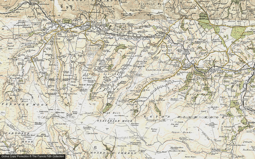 Old Map of Historic Map covering York Ho in 1903-1904