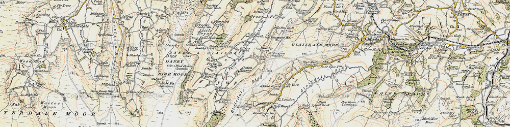 Old map of Wolf Pit (Tumulus) in 1903-1904