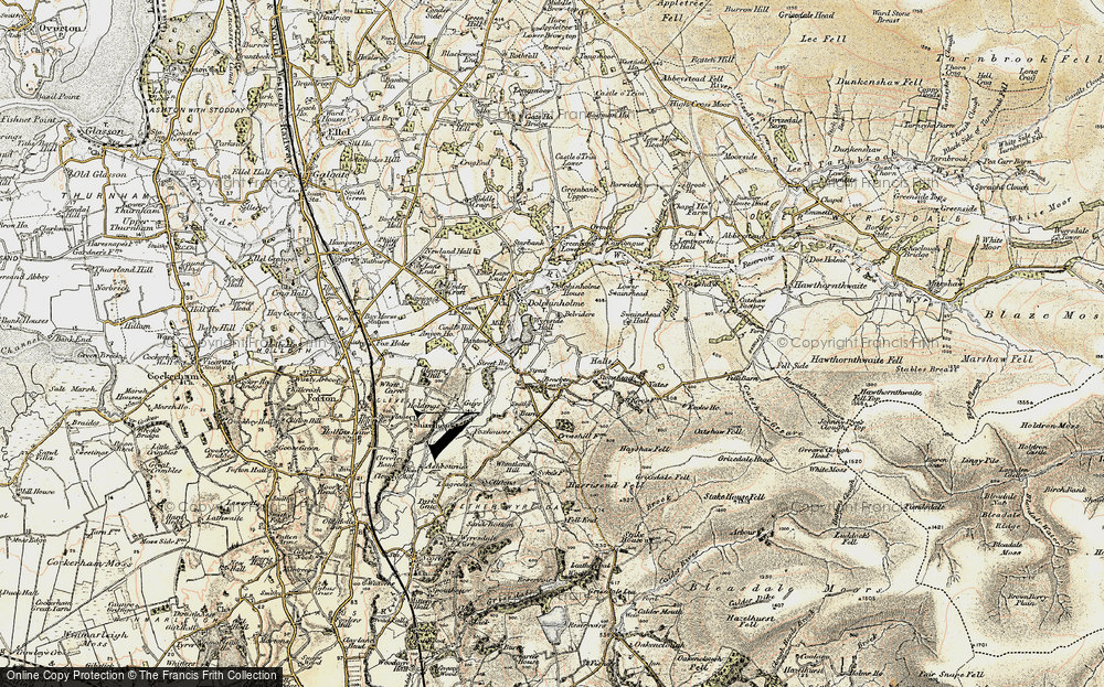 Old Map of Historic Map covering Lea Green in 1903-1904