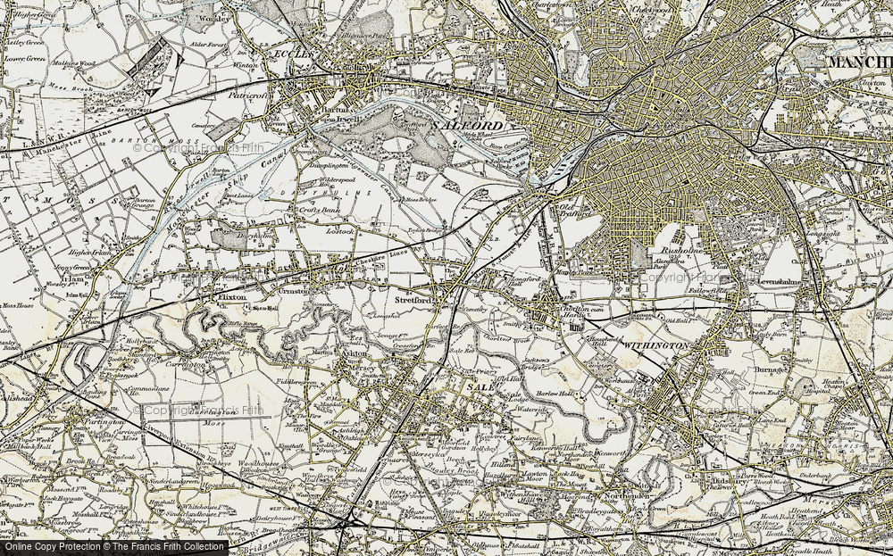 Old Map of Historic Map covering Barfoot Br in 1903