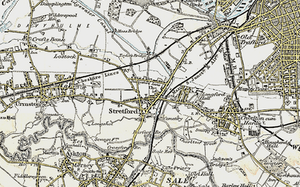 Old map of Barfoot Br in 1903