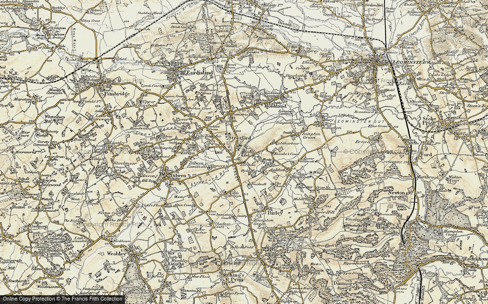 Old Map of Historic Map covering Bainstree Cross in 1900-1903