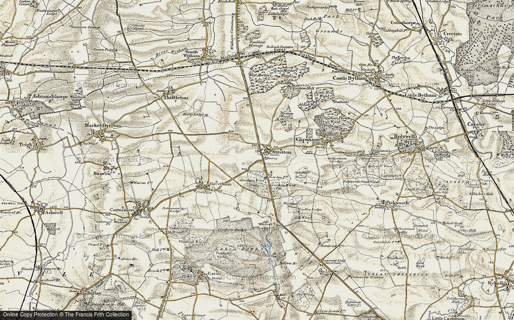 Old Map of Historic Map covering Woolfox Wood in 1901-1903