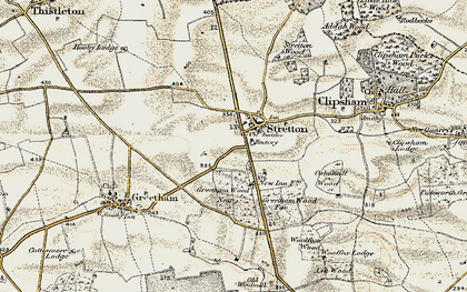 Old map of Woolfox Wood in 1901-1903