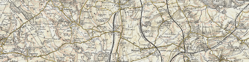 Old map of Stretton in 1902-1903