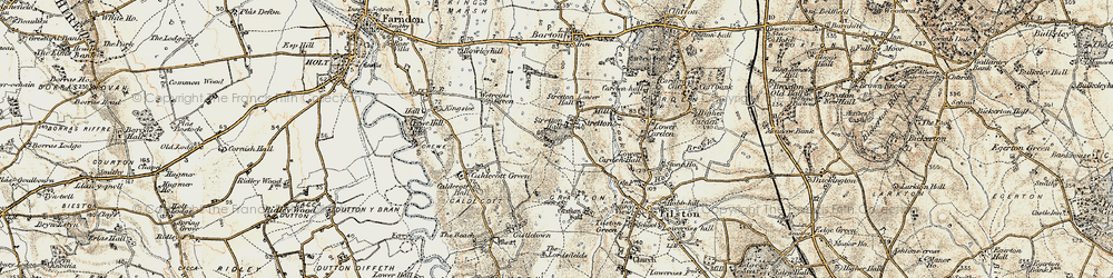 Old map of Wetreins, The in 1902