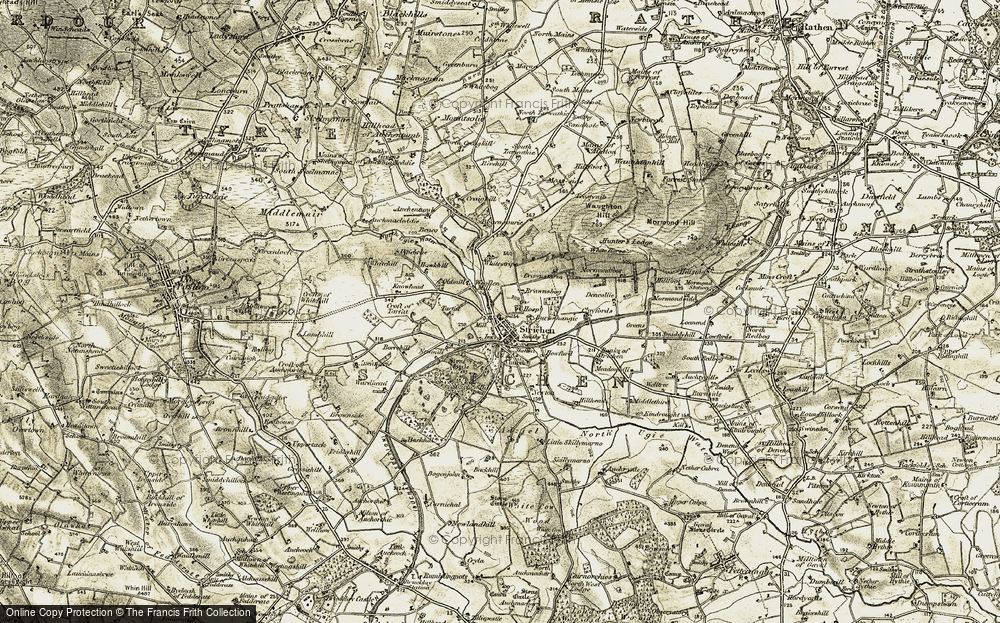 Old Map of Historic Map covering Banks of Strichen in 1909-1910