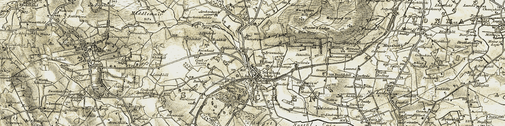 Old map of White Horse in 1909-1910