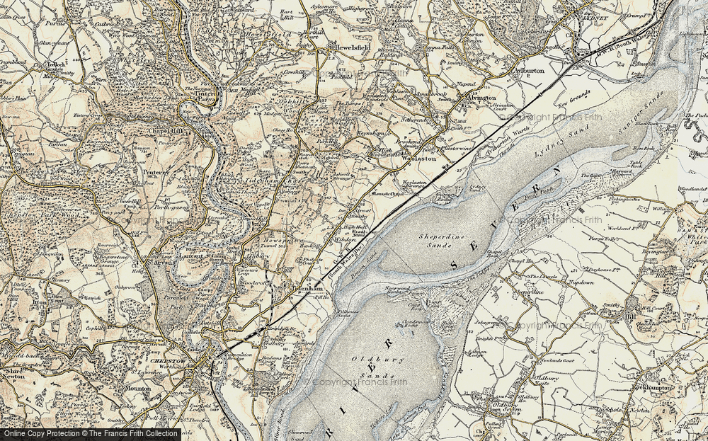 Old Map of Historic Map covering Ashwell Grange in 1899-1900