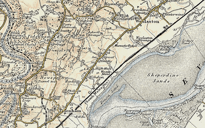 Old map of Ashwell Grange in 1899-1900