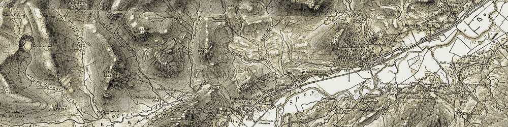 Old map of An Caisdeal in 1908