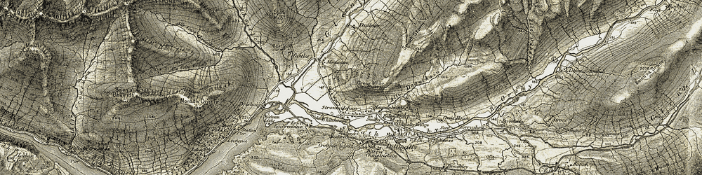 Old map of Tigh Mòr in 1906