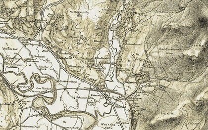 Old map of Bardrochwood Moor in 1905
