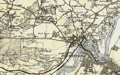 Old map of Strood in 1897-1898