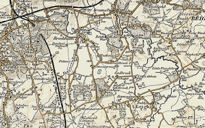 Old map of Strood Green in 1898-1909