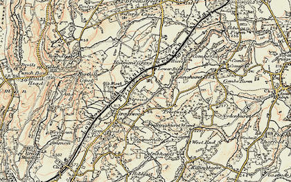 Old map of Stroud in 1897-1909