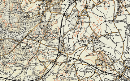 Old map of Stroude in 1897-1909