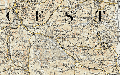 Old map of Witley Court in 1899-1902