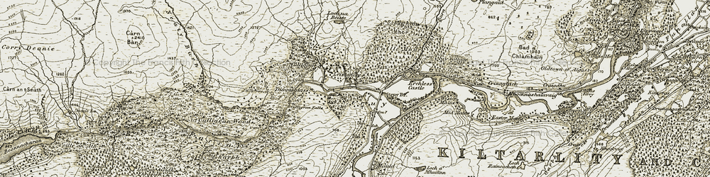 Old map of Tighchuig in 1908-1912