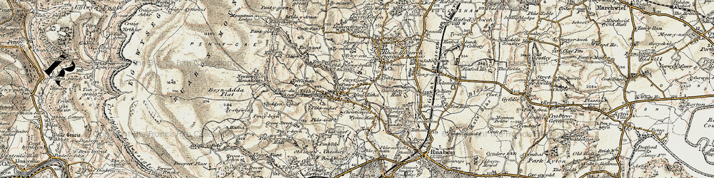 Old map of Wynn Hall in 1902-1903