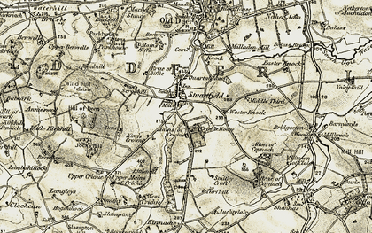 Old map of Windhill in 1909-1910