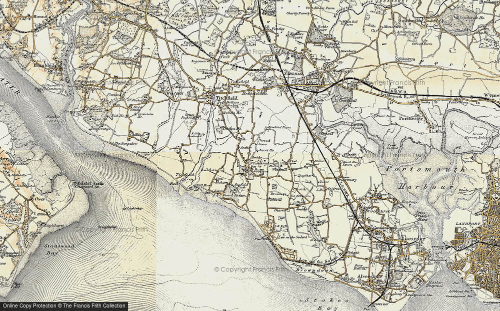 Old Map of Stubbington, 1897-1899 in 1897-1899