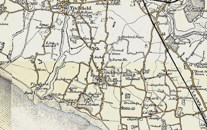 Old map of Stubbington in 1897-1899
