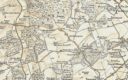 Old map of Ashmore Bottom in 1897-1909