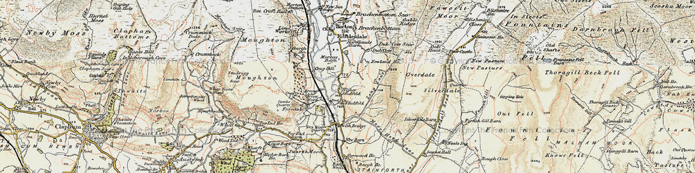 Old map of Arcow Quarry in 1903-1904