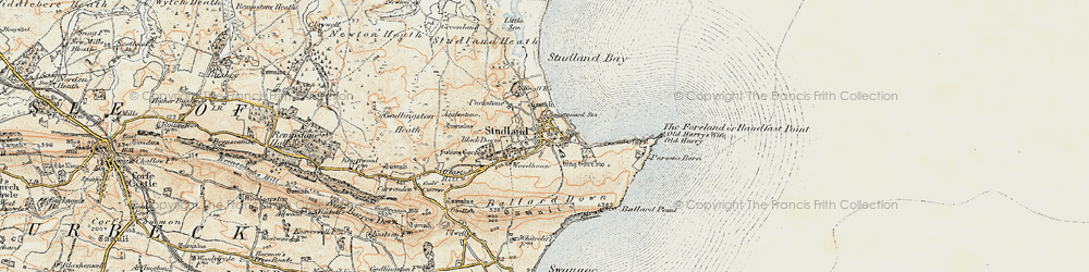 Old map of Agglestone in 1899-1909
