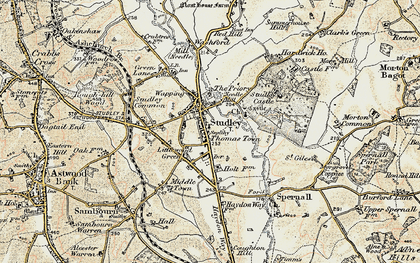 Old map of Studley in 1899-1902