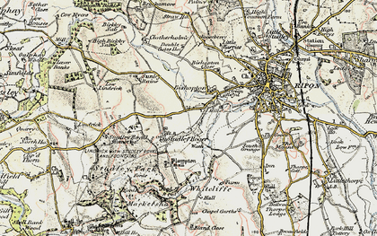 Old map of Aismunderby Village in 1903-1904