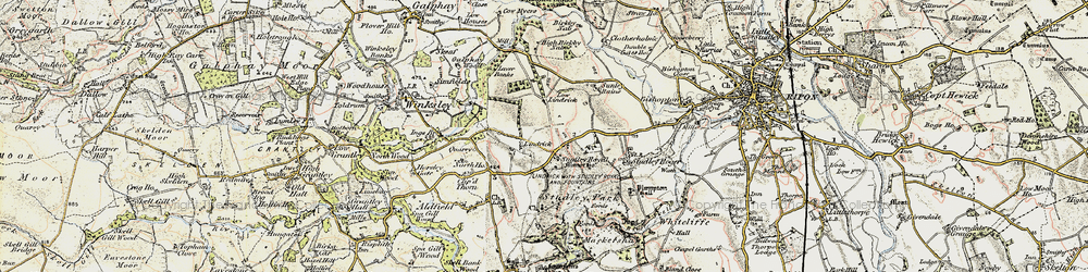 Old map of Studley Royal in 1903-1904