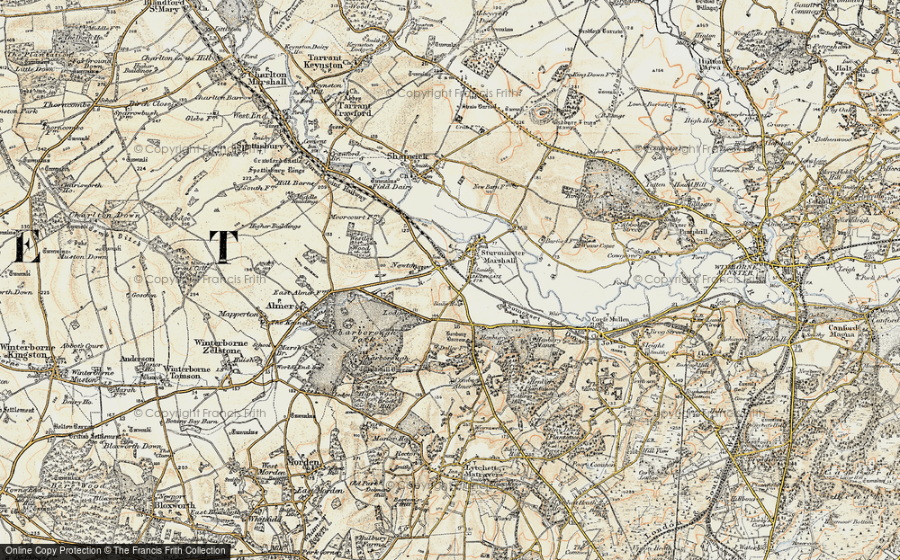Old Map of Historic Map covering Bailie Ho in 1897-1909