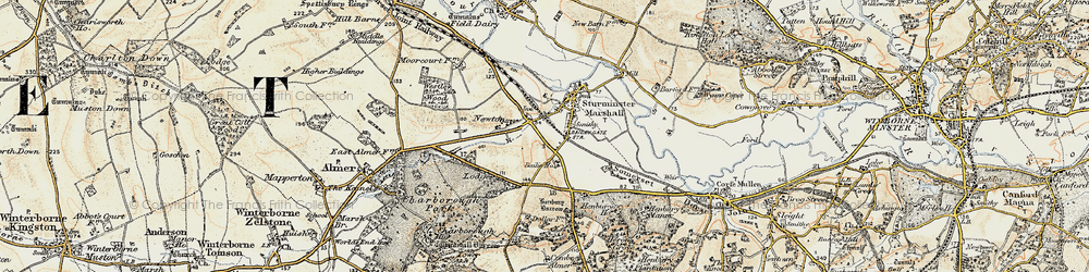 Old map of White Mill in 1897-1909