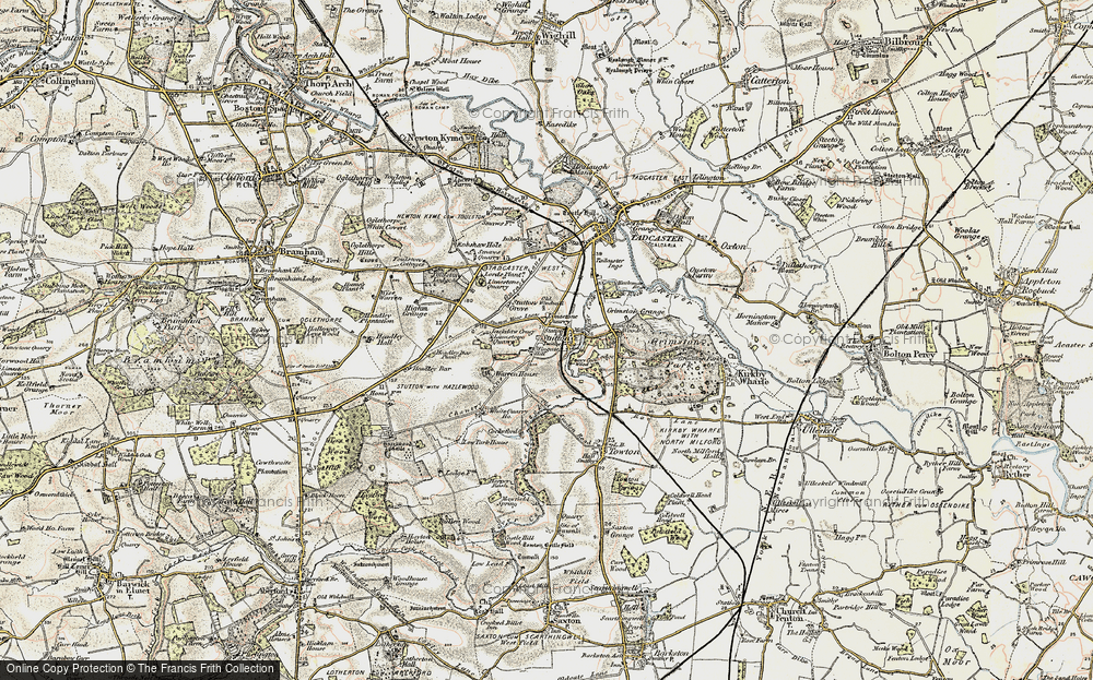 Old Map of Historic Map covering Limekiln Wood in 1903-1904