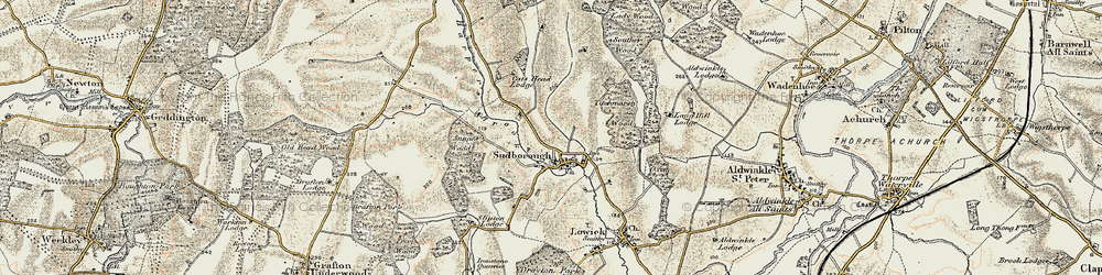 Old map of Titchmarsh Wood in 1901-1902