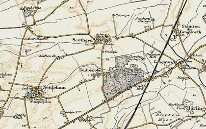 Old map of Barfield Ho in 1902-1903
