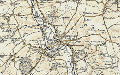 Old map of Sudbury in 1898-1901