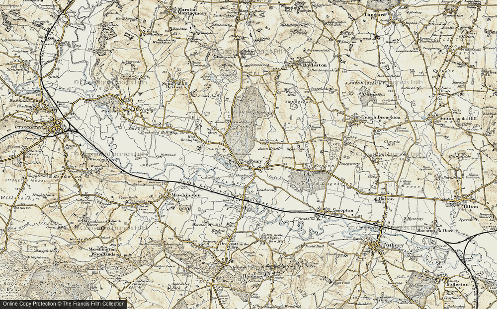 Old Map of Historic Map covering Aston Heath in 1902
