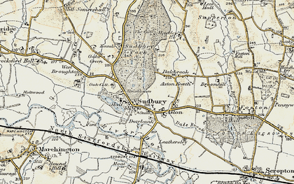 Old map of Aston Heath in 1902