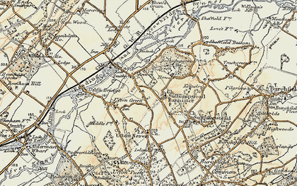 Old map of Sulhamstead in 1897-1900