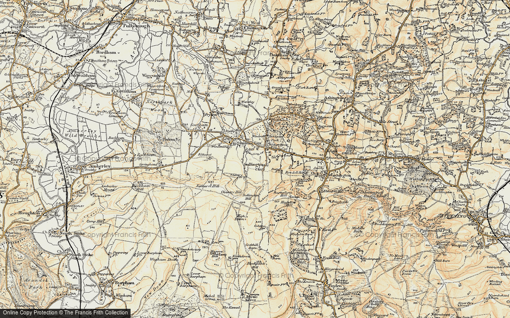 Old Map of Historic Map covering Abbots Leigh in 1898
