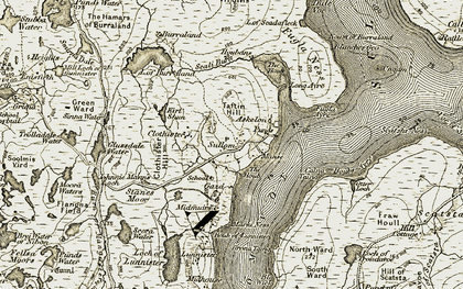 Old map of Askelon in 1912