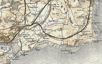 Old map of Sully in 1899-1900