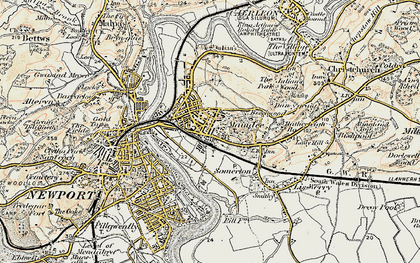 Old map of Summerhill in 1899-1900