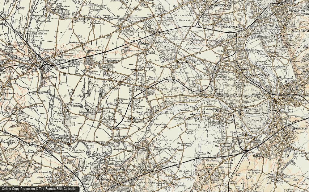 Old Map of Sunbury, 1897-1909 in 1897-1909
