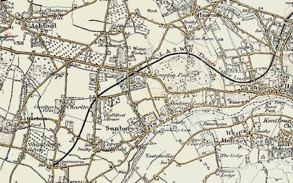 Old map of Sunbury in 1897-1909